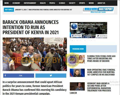 [SALAH] Obama Mencalonkan Diri Sebagai Presiden Kenya Tahun 2021