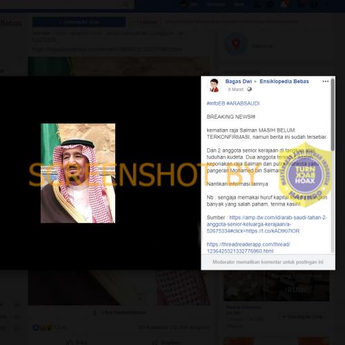 """[SALAH] """"kematian raja Salman dan putra mahkota pangeran Mohamed bin Salman di tangkap atas tuduhan kudeta"""""""
